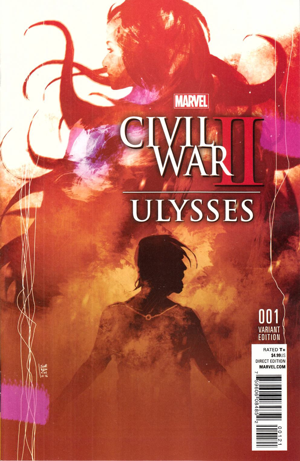 Civil War II Ulysses #1 Variant Cover [Marvel Comic] LARGE