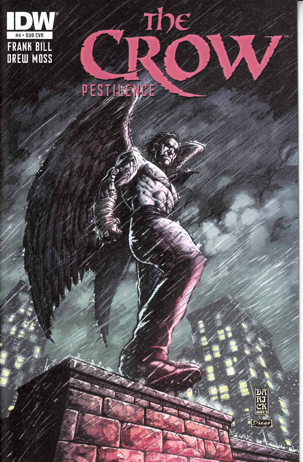 The Crow Pestilence #4 Subscription Cover [IDW Comic] LARGE