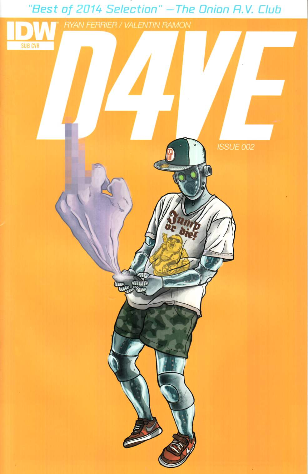 D4Ve #2 Subscription Cover [IDW Comic] LARGE