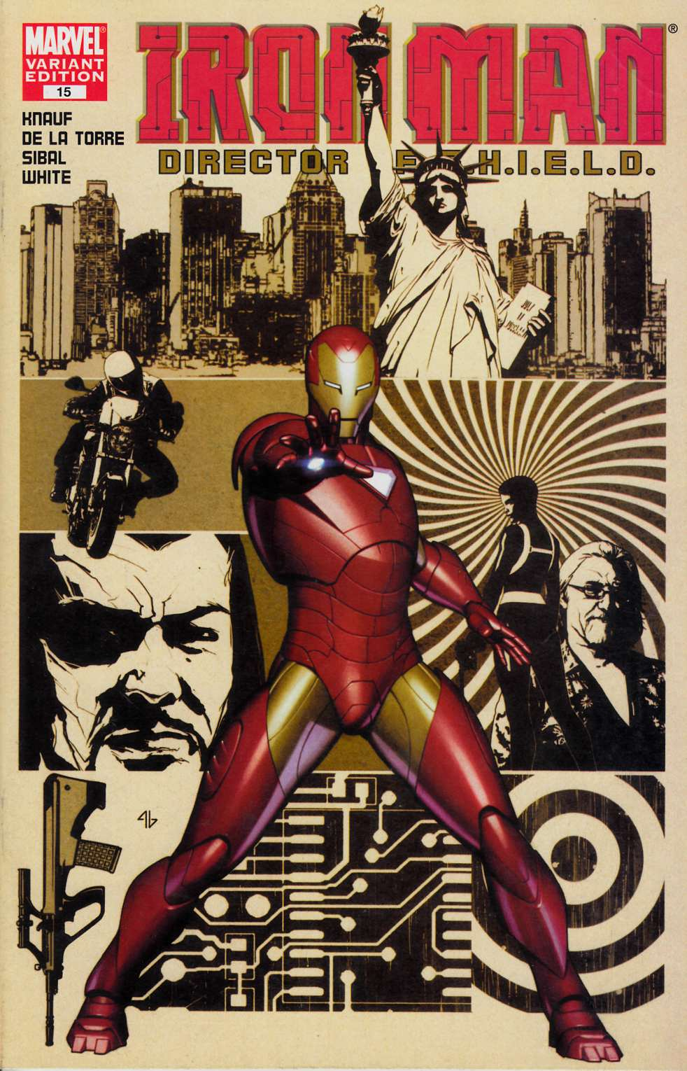 Iron Man #15 Cover B Very Fine (8.0) [Marvel Comic]_THUMBNAIL