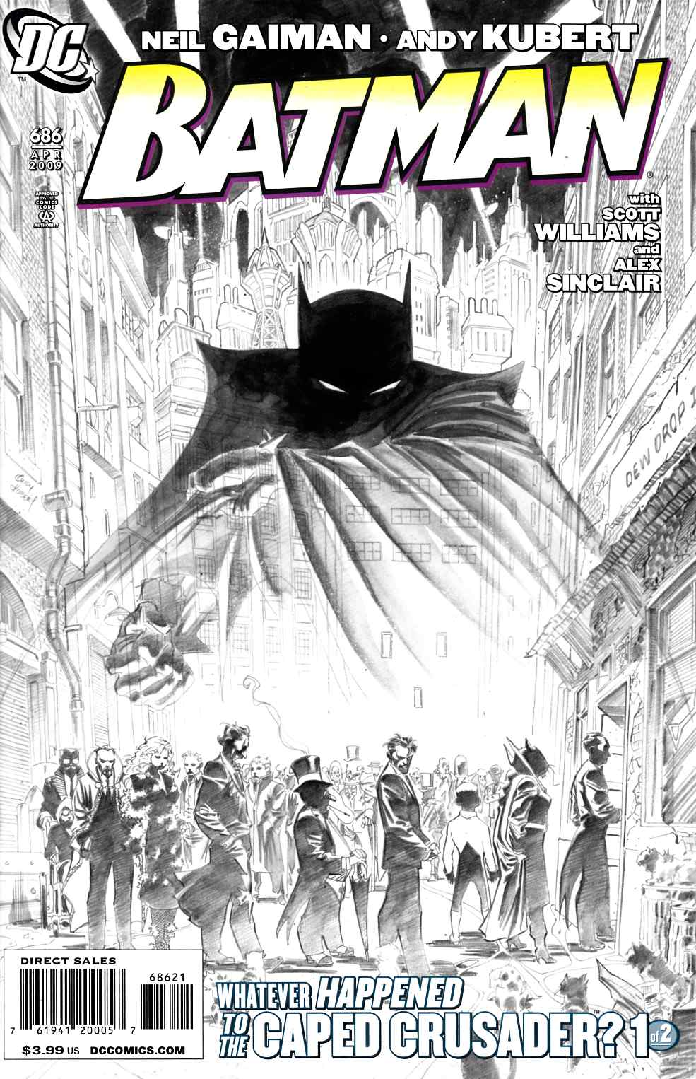 Batman #686 Kubert Sketch Variant Cover Near Mint Minus (9.2) [DC Comic]_THUMBNAIL