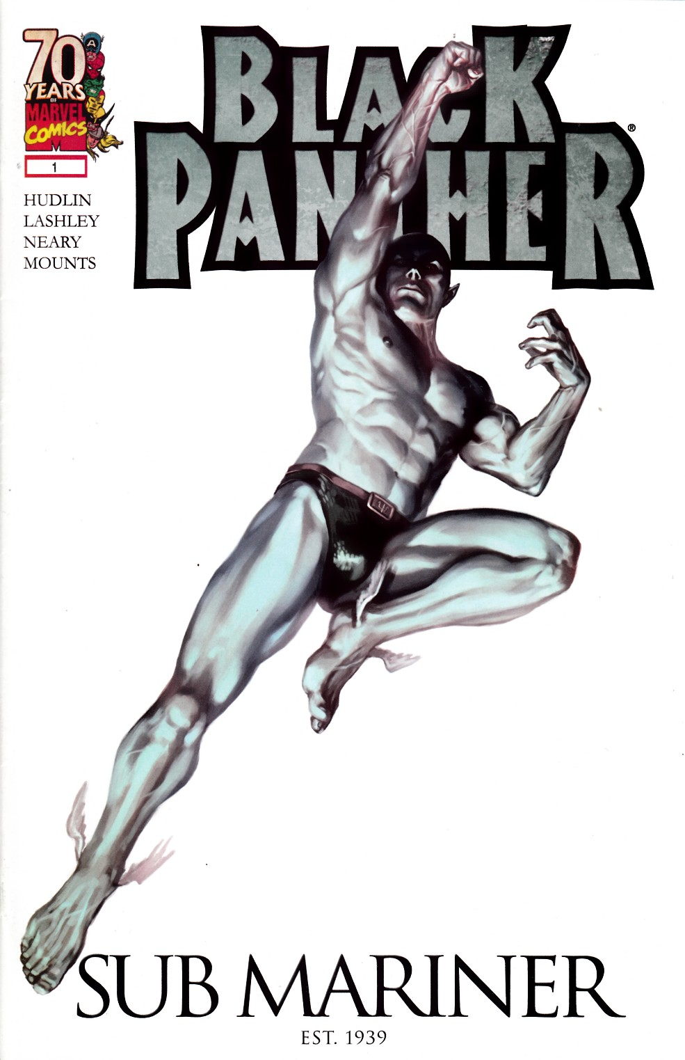 Black Panther #1 Marvels 70th Anniversary Variant Cover- Very Fine (8.0) [Marvel Comic]_THUMBNAIL