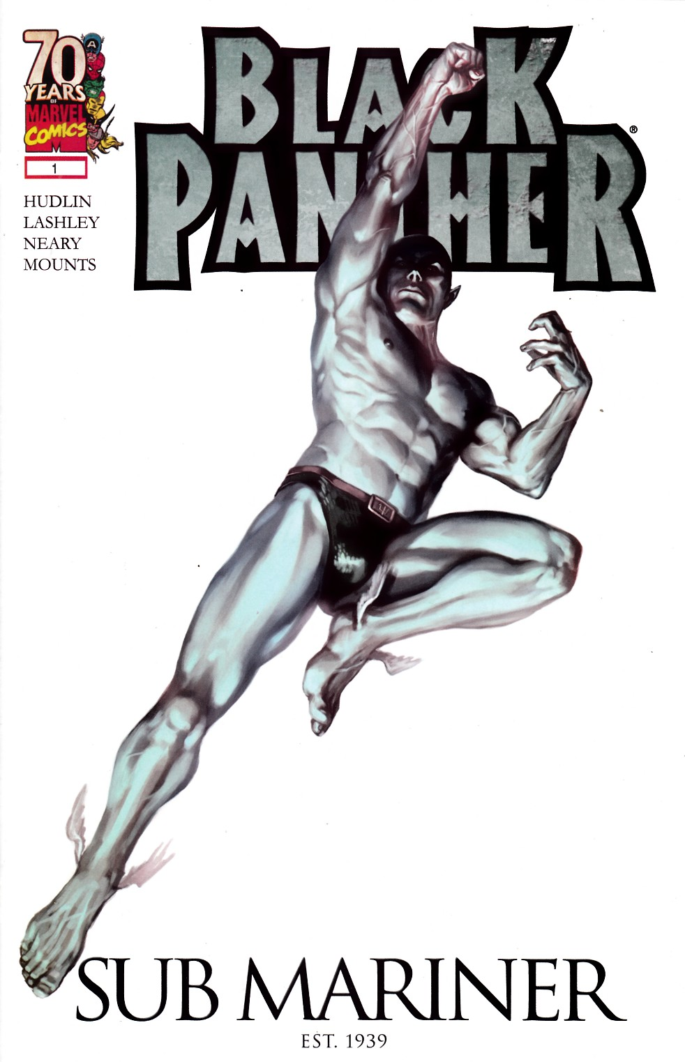 Black Panther #1 Marvels 70th Anniversary Variant Cover Near Mint (9.4) [Marvel Comic] THUMBNAIL