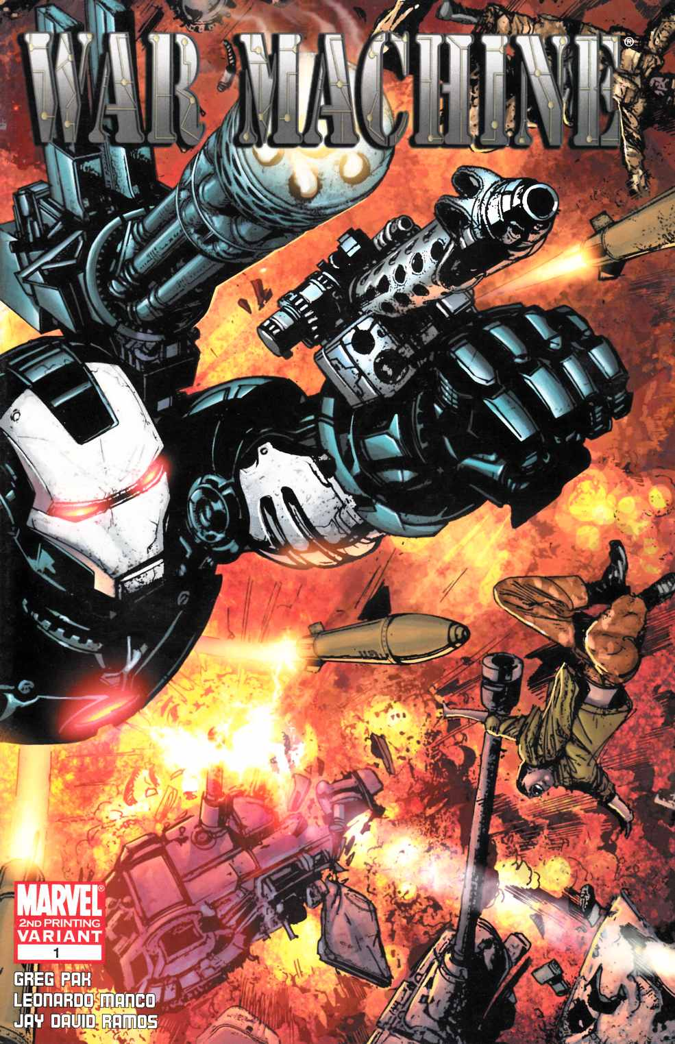 War Machine #1 Second Printing Near Mint (9.4) [Marvel Comic] THUMBNAIL