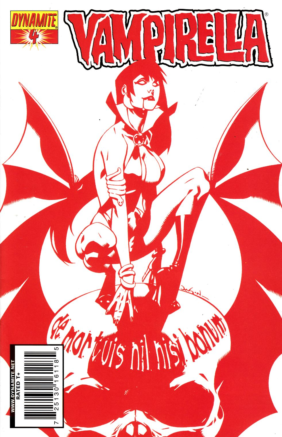 Vampirella #4 Pearson Red Variant Cover Near Mint Minus (9.2) [Dynamite Comic] THUMBNAIL