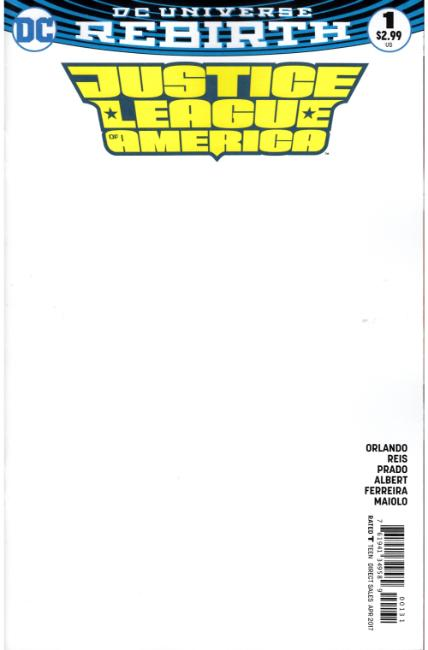Justice League of America #1 Blank Variant Cover [DC Comic] THUMBNAIL