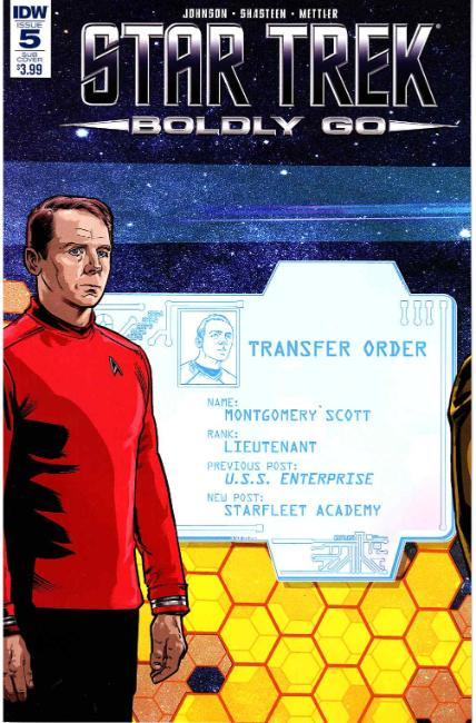 Star Trek Boldly Go #5 Subscription Cover [IDW Comic] THUMBNAIL