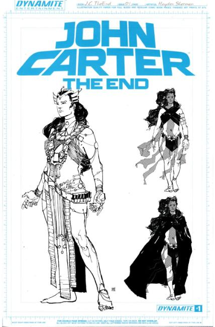 John Carter the End #1 Cover F- Sherman Art Board Incentive [Dynamite Comic] THUMBNAIL
