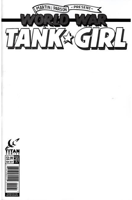 Tank Girl World War Tank Girl #1 Cover F- Blank [Titan Comic]_THUMBNAIL