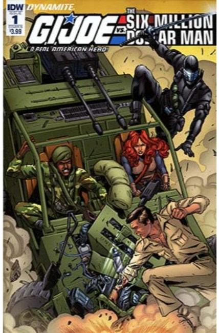 GI Joe vs Six Million Dollar Man #1 Cover B [IDW Comic] LARGE