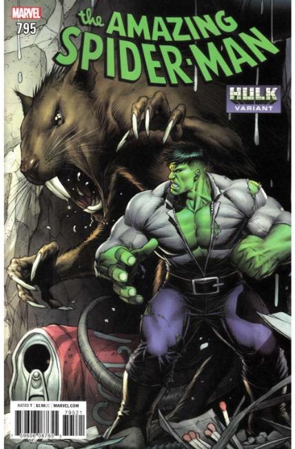 Amazing Spider-Man #795 Keown Hulk Variant Cover Near Mint (9.4) [Marvel Comic] THUMBNAIL