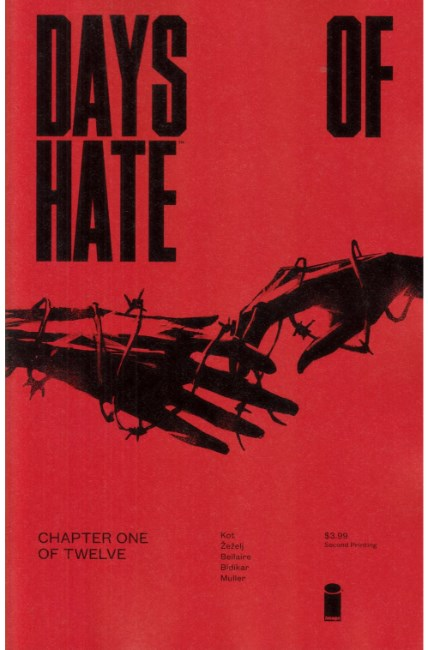Days of Hate #1 Second Printing [Image Comic] THUMBNAIL