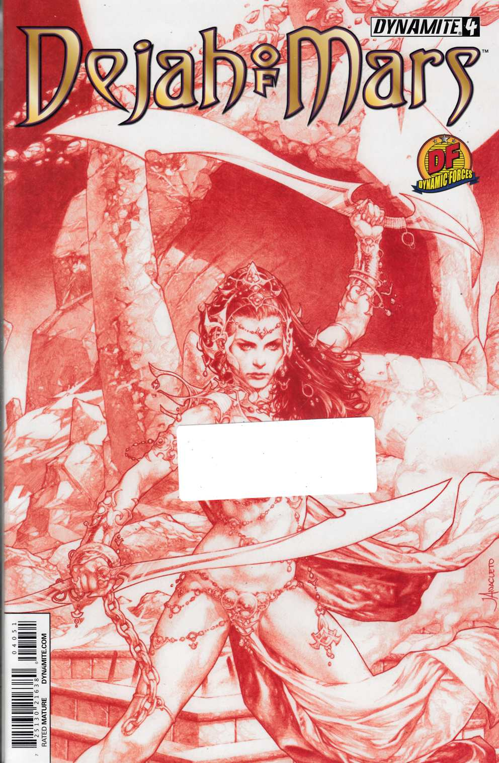 Dejah of Mars #4 DF Exclusive Red Cover [Comic]_THUMBNAIL