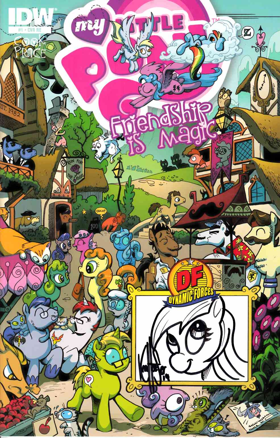 My Little Pony Friendship Is Magic #1 DF Haeser Signed & Remarked [Comic] LARGE