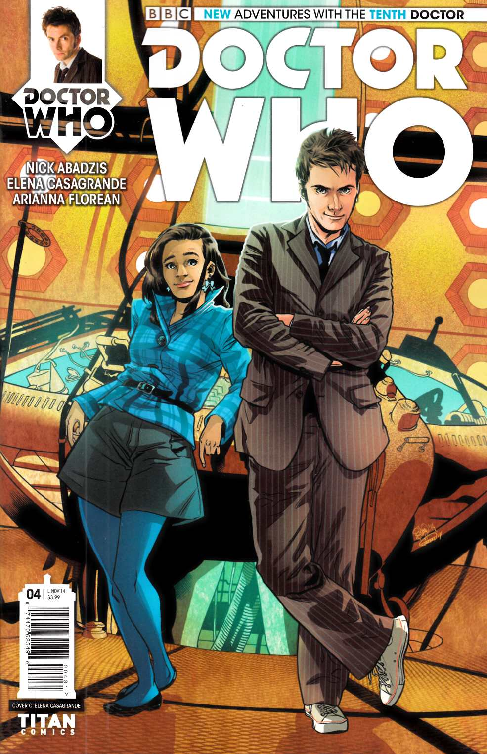 Doctor Who 10th Doctor #4 Casagrande Incentive Cover [Titan Comic]
