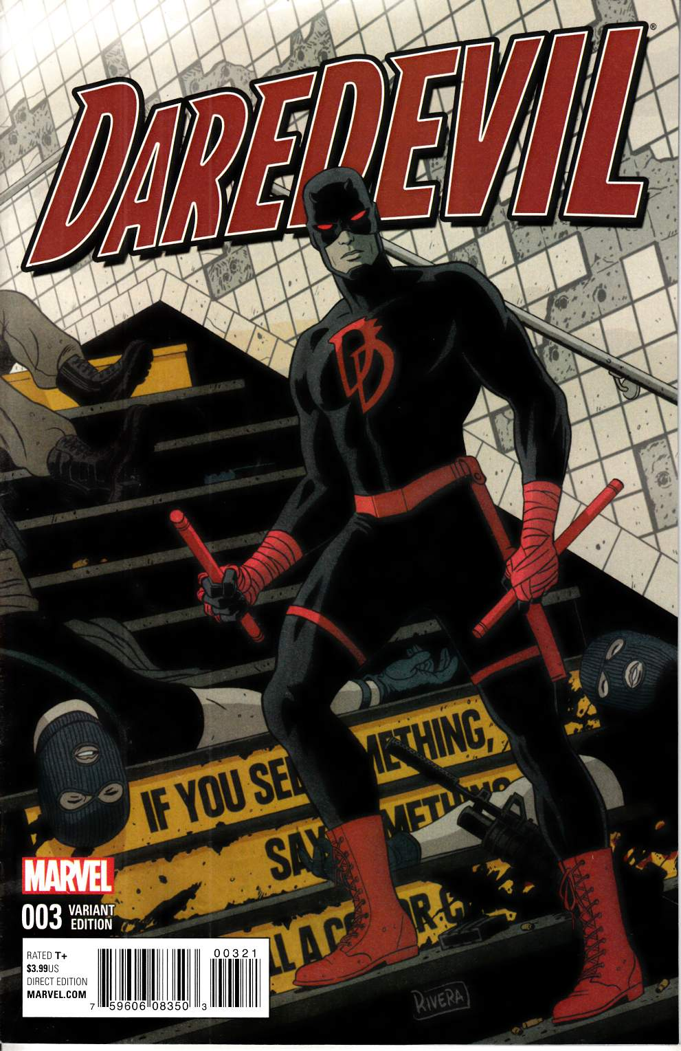 Daredevil #3 Rivera Variant Cover [Marvel Comic] LARGE