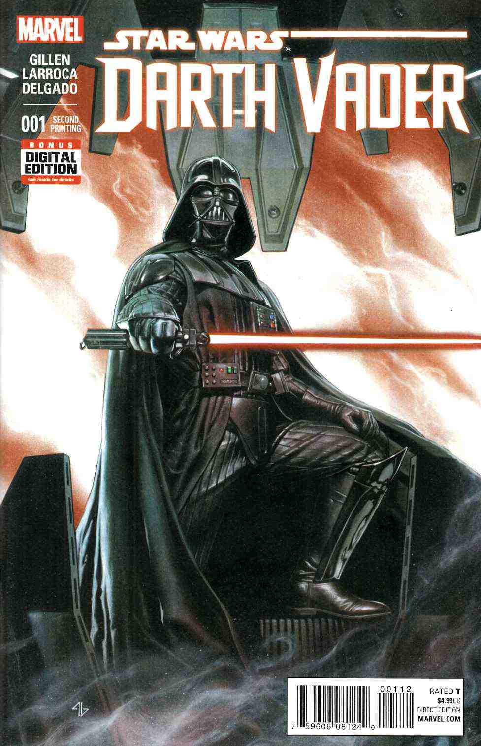 Darth Vader #1 Second Printing [Marvel Comic] LARGE