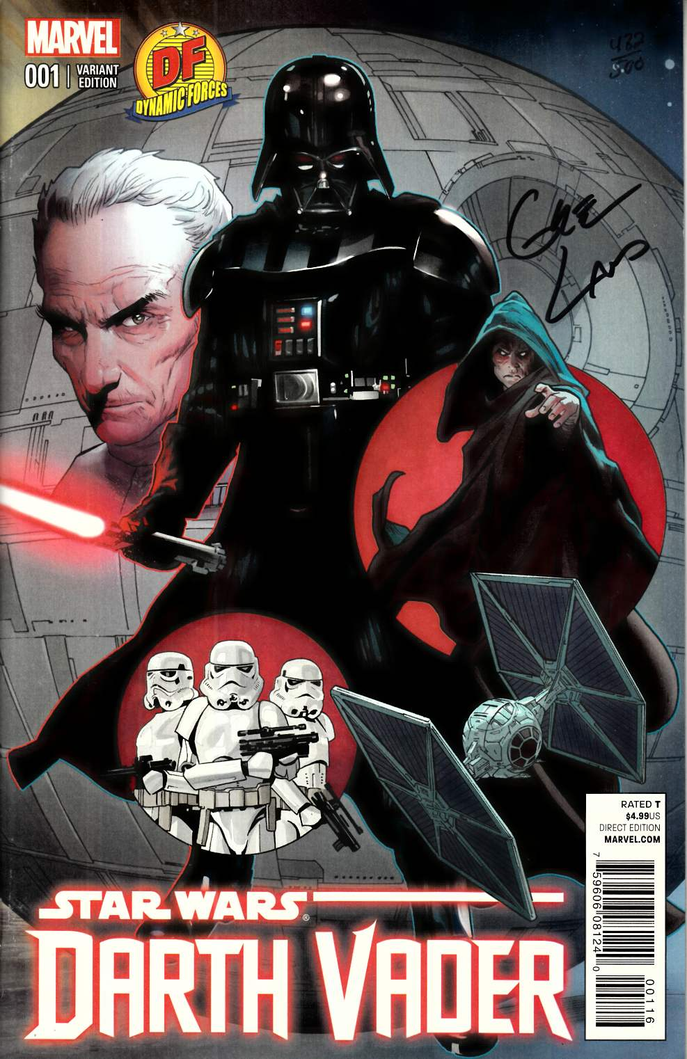 Darth Vader #1 DF Exclusive Greg Land Cover Signed [Marvel Comic] LARGE