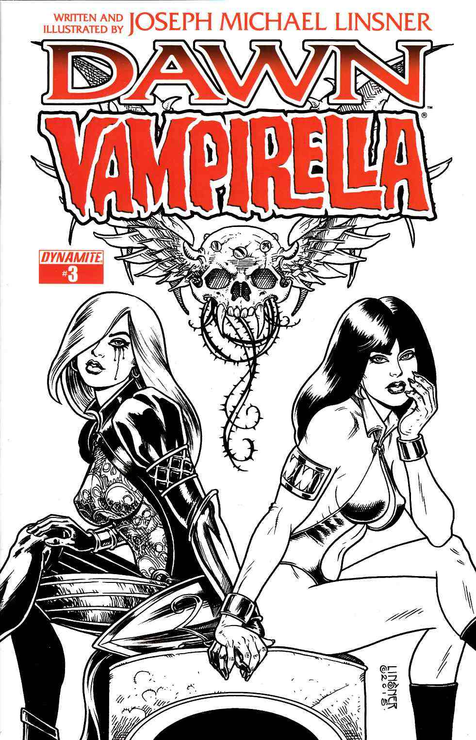 Dawn Vampirella #3 Pure Line Art Ladies Incentive Cover [Dynamite Comic] LARGE