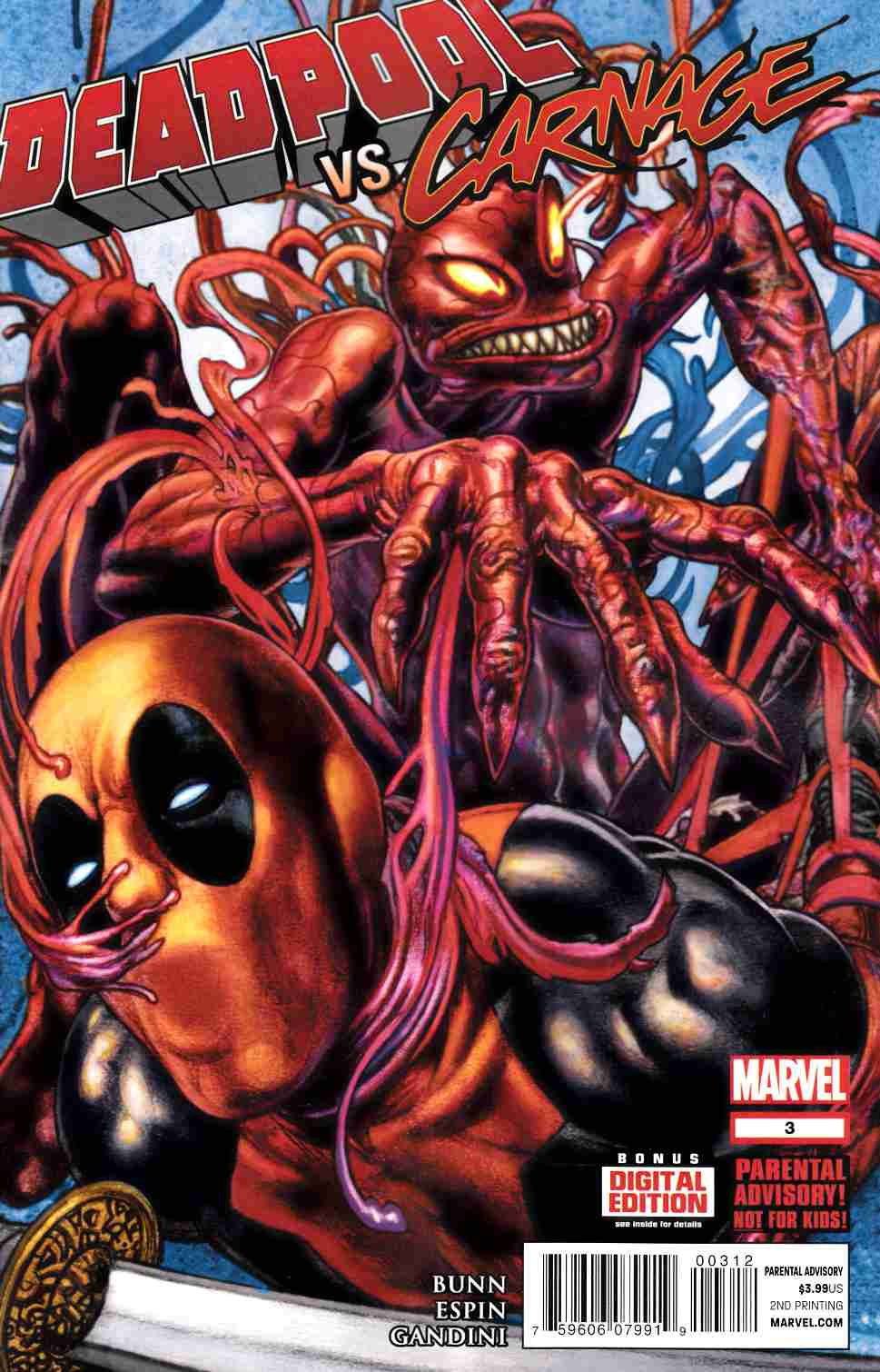Deadpool vs Carnage #3 Second Printing [Comic] THUMBNAIL