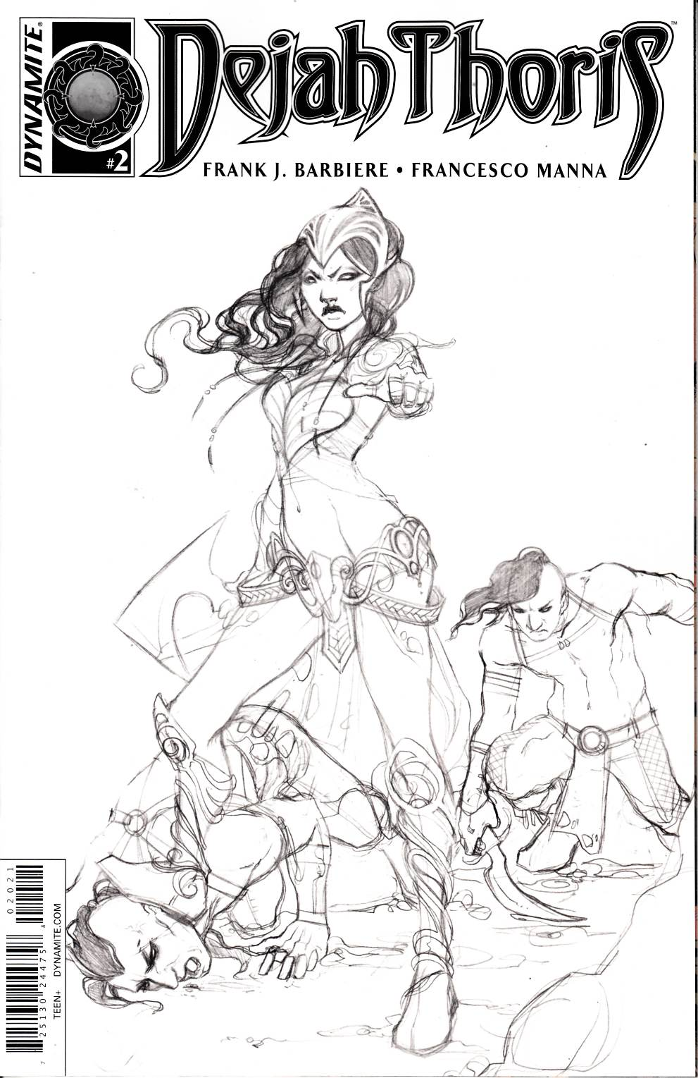 Dejah Thoris #2 Cover F- Nen B&W Incentive [Dynamite Comic] THUMBNAIL