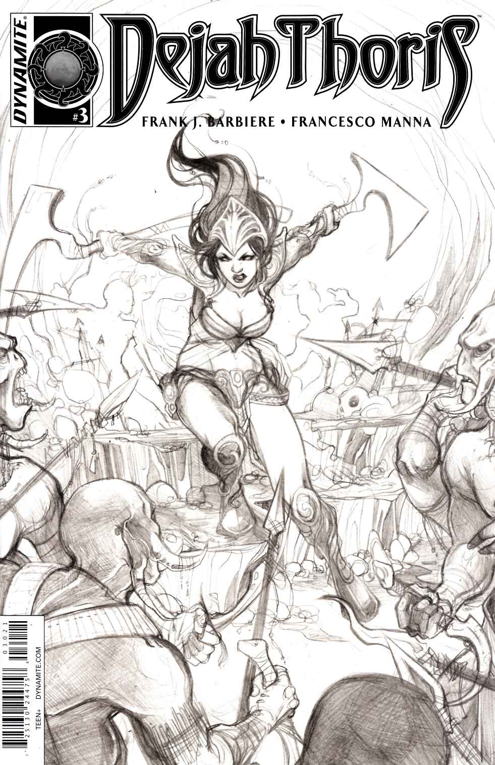 Dejah Thoris #3 Cover B- Nen B&W Incentive [Dynamite Comic]