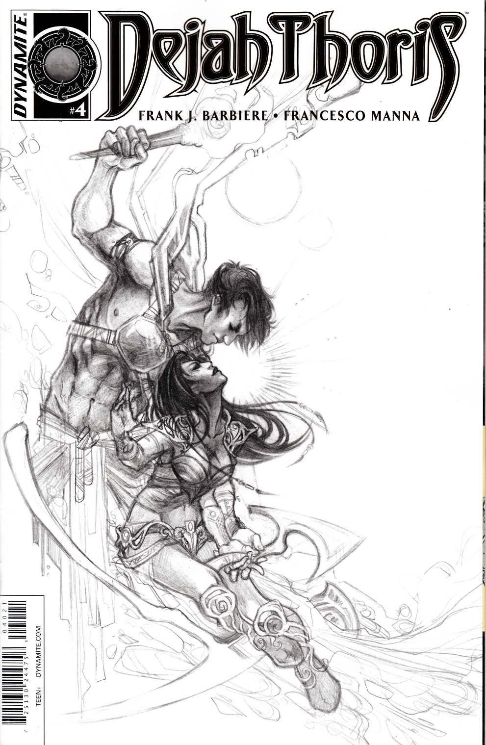 Dejah Thoris #4 Cover B- Nen B&W Incentive [Dynamite Comic] THUMBNAIL