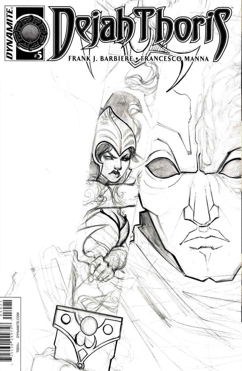 Dejah Thoris #5 Nen B&W Incentive Cover [Dynamite Comic] THUMBNAIL