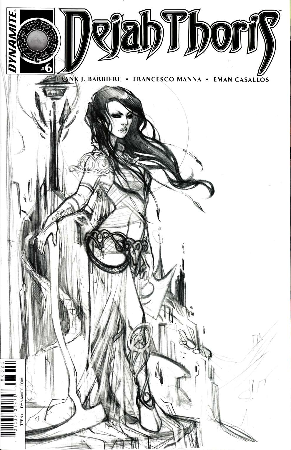 Dejah Thoris #6 Cover B- Nen B&W Incentive [Dynamite Comic] THUMBNAIL