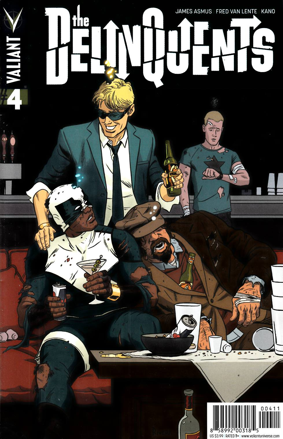 Delinquents #4 Cover A- Rivera [Valiant Comic] THUMBNAIL