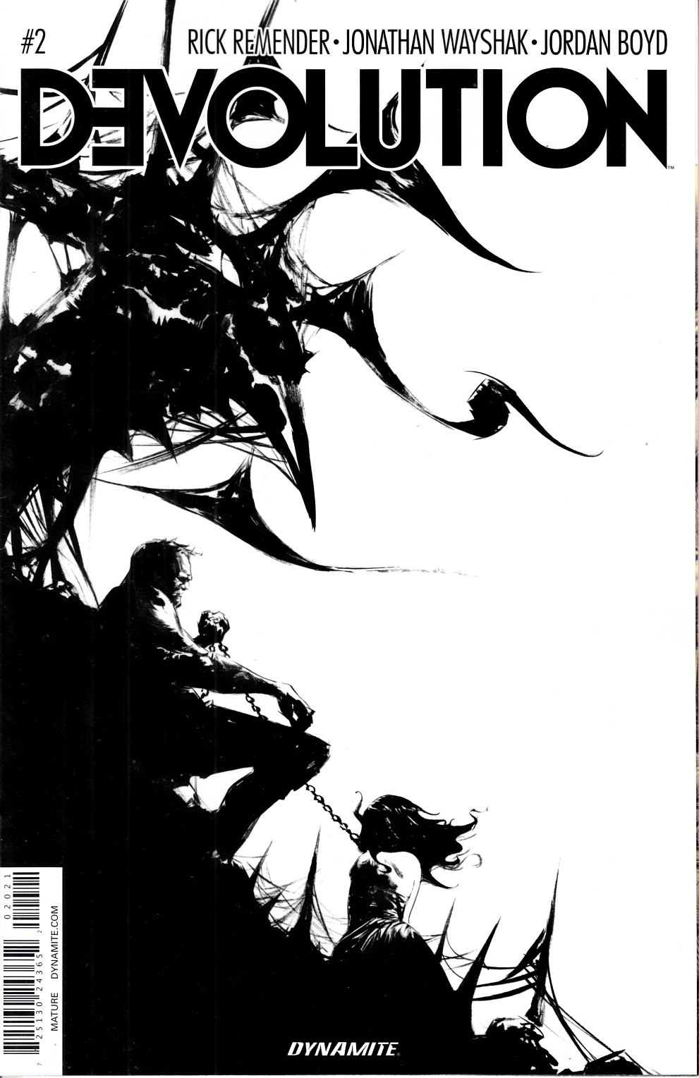 Devolution #2 Lee B&W Incentive Cover [Dynamite Comic]_THUMBNAIL