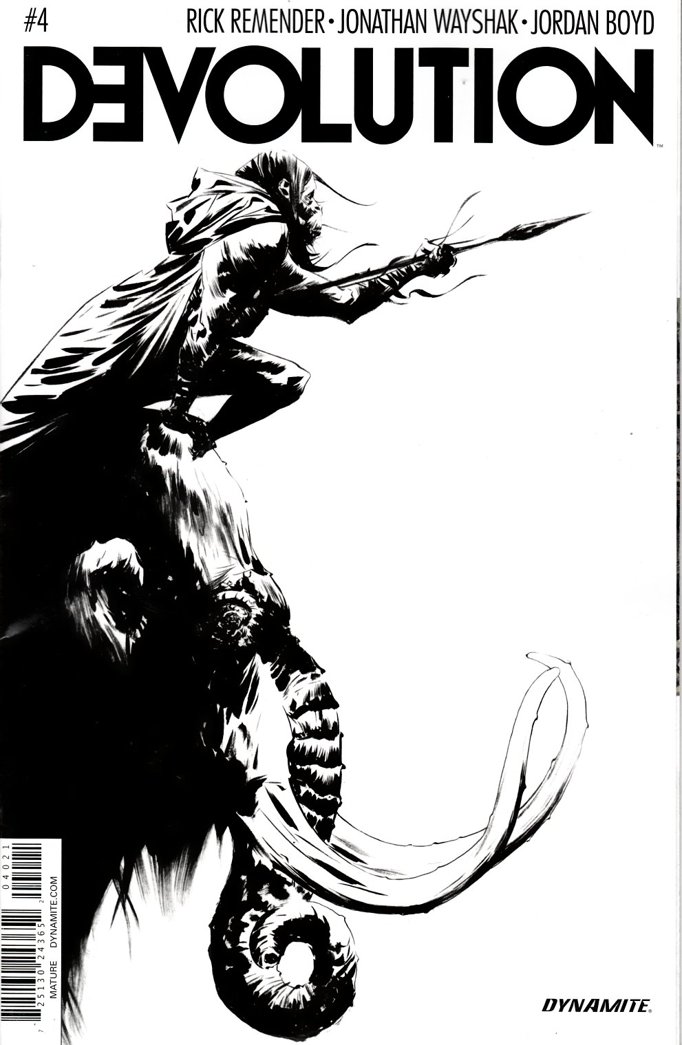 Devolution #4 Lee B&W Incentive Cover [Dynamite Comic]_THUMBNAIL
