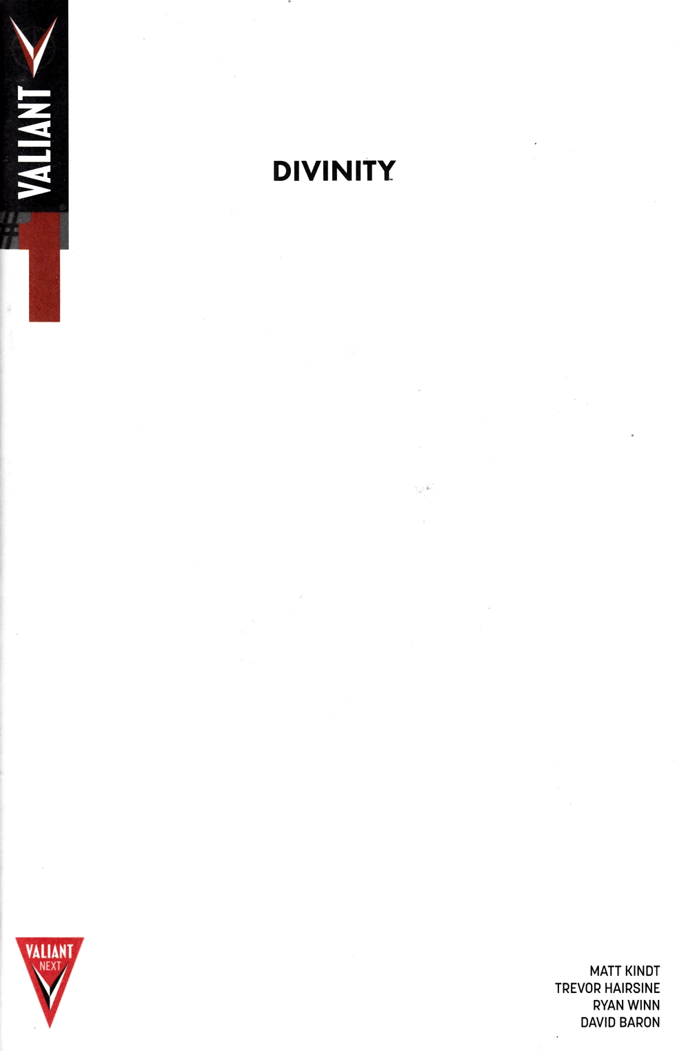 Divinity #1 Cover C- Blank [Valiant Comic] THUMBNAIL