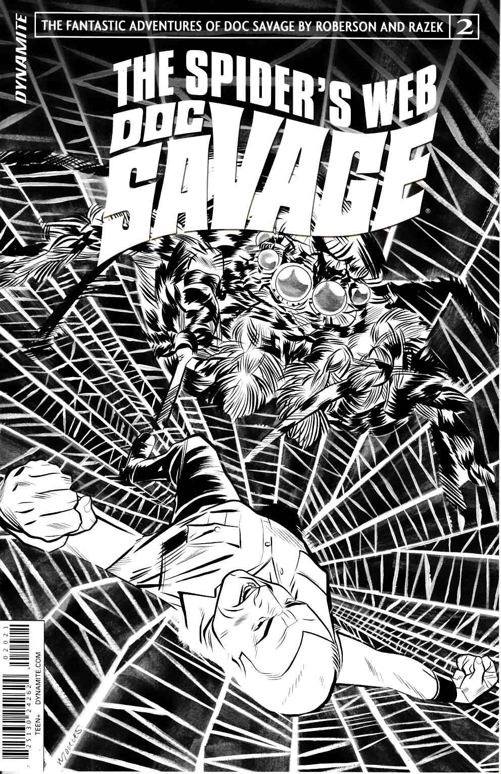 Doc Savage Spiders Web #2 Cover B- Torres B&W Variant Cover [Dynamite Comic] THUMBNAIL