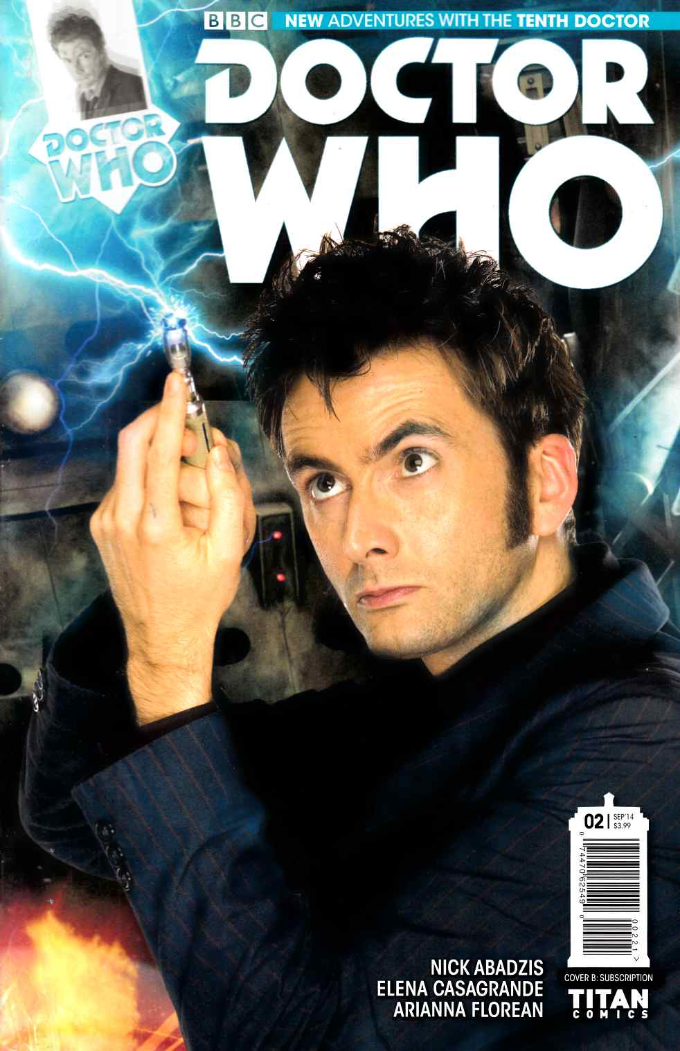 Doctor Who 10th Doctor #2 Subscription Cover [Comic] THUMBNAIL