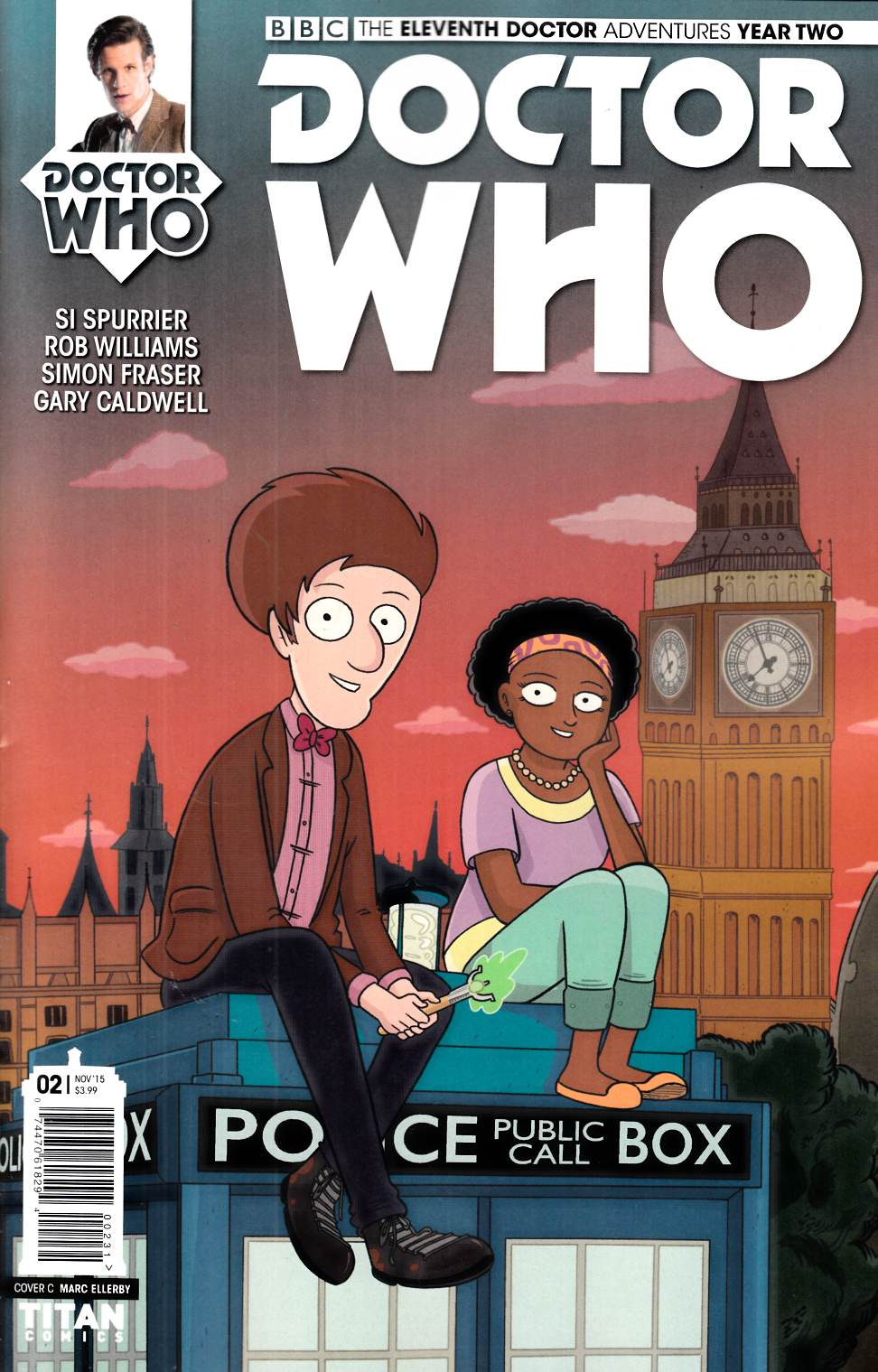 Doctor Who 11th Doctor Year 2 #2 Ellerby Varaint [Titan Comic]