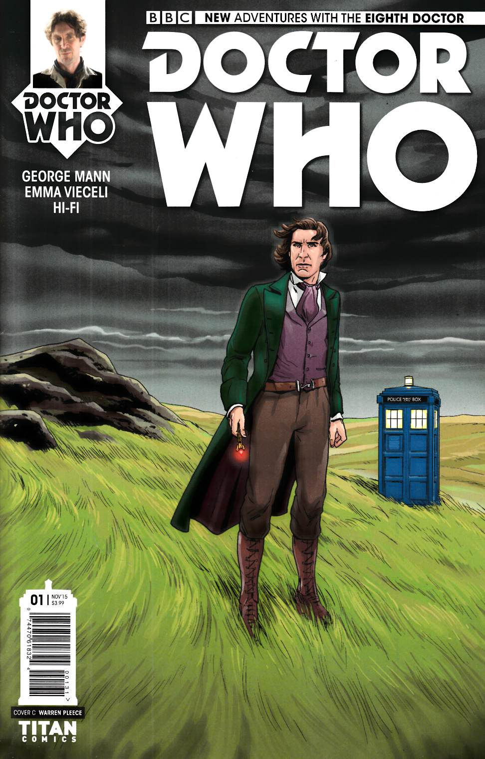 Doctor Who 8th Doctor #1 Vieceli Variant Cover [Titan Comic] THUMBNAIL