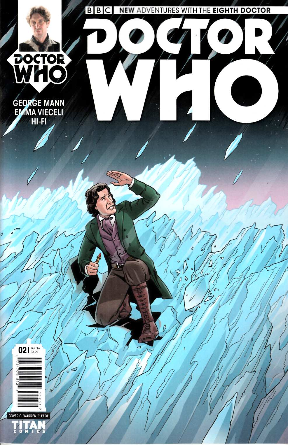 Doctor Who 8th Doctor #2 Pleece Variant Cover [Titan Comic] THUMBNAIL