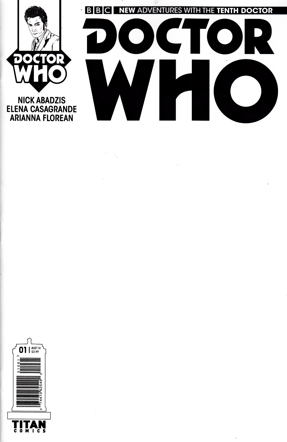 Doctor Who 10th Doctor #1 Blank Cover [Comic] THUMBNAIL