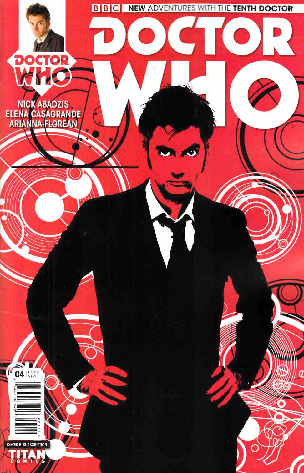Doctor Who 10th Doctor #4 Subscription Photo Cover [Titan Comic] THUMBNAIL