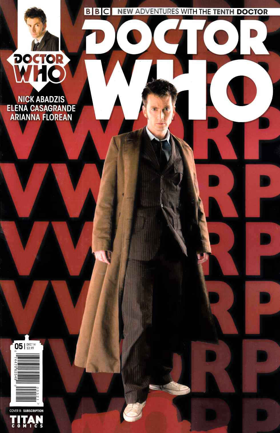 Doctor Who 10th Doctor #5 Subscription Photo Cover [Titan Comic] LARGE