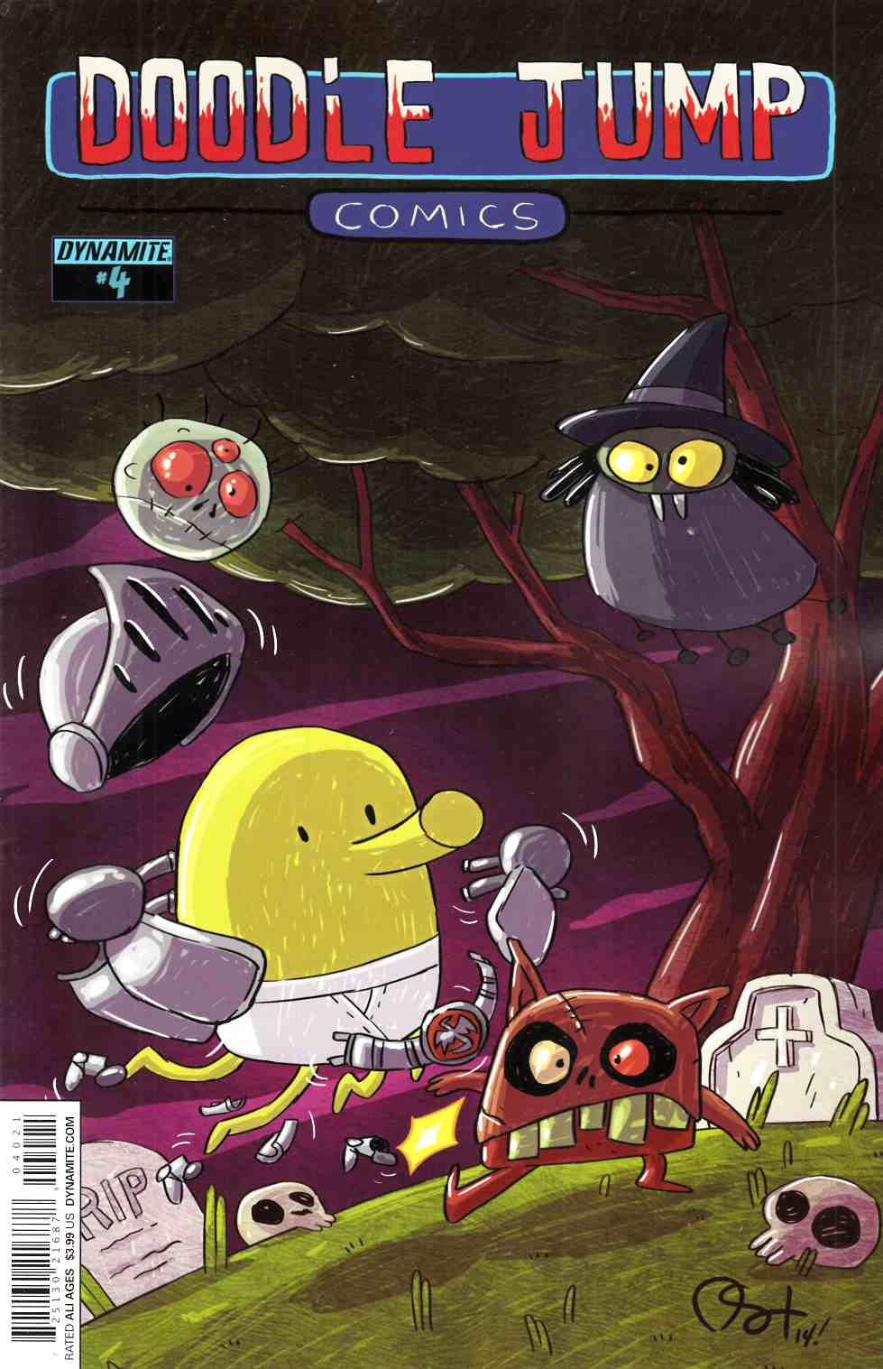 Doodle Jump #4 Video Game Homage Cover [Dynamite Comic]_THUMBNAIL