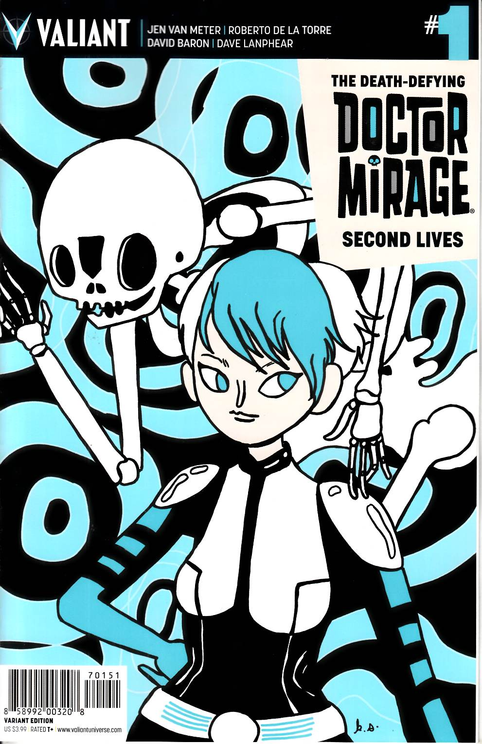 Dr Mirage Second Lives #1 Cover E- Skelly [Valiant Comic]_THUMBNAIL