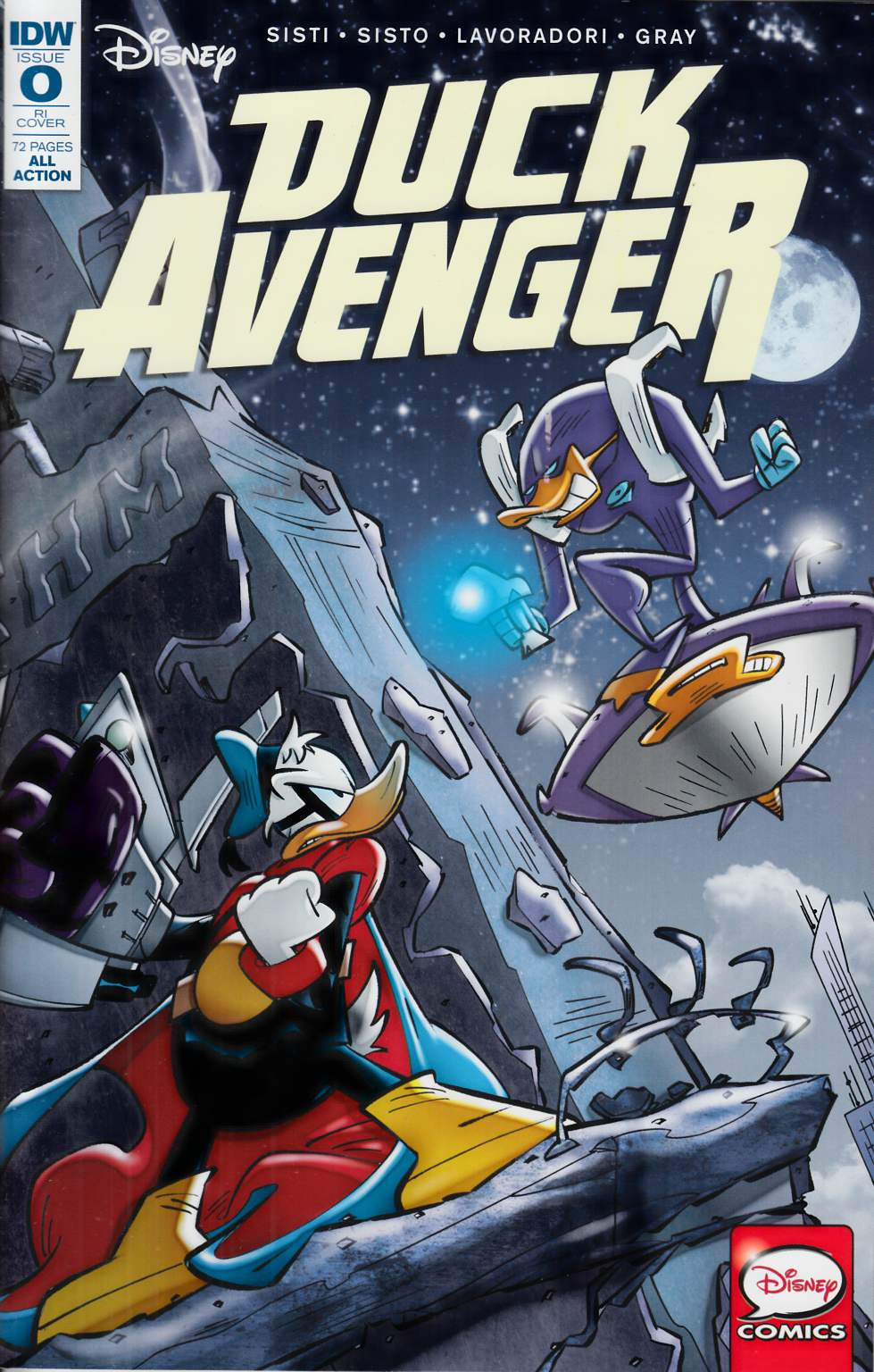 Duck Avenger #0 Cover RI [IDW Comic]
