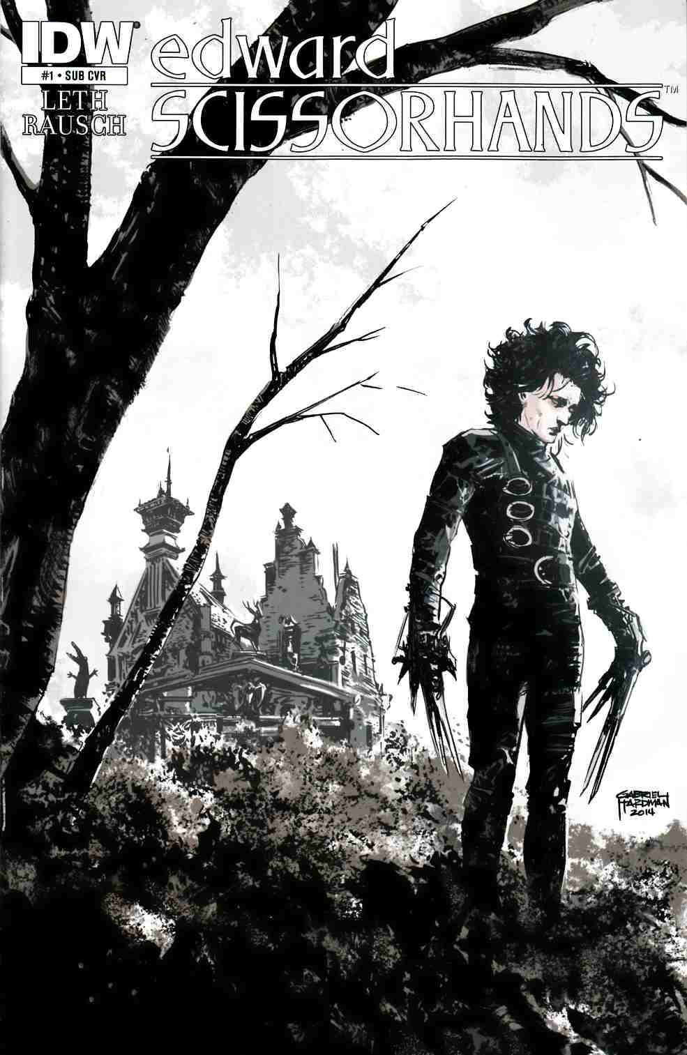 Edward Scissorhands #1 Subscription Cover [Comic] THUMBNAIL