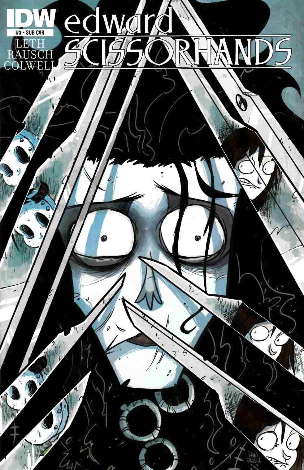 Edward Scissorhands #3 Subscription Cover [IDW Comic]