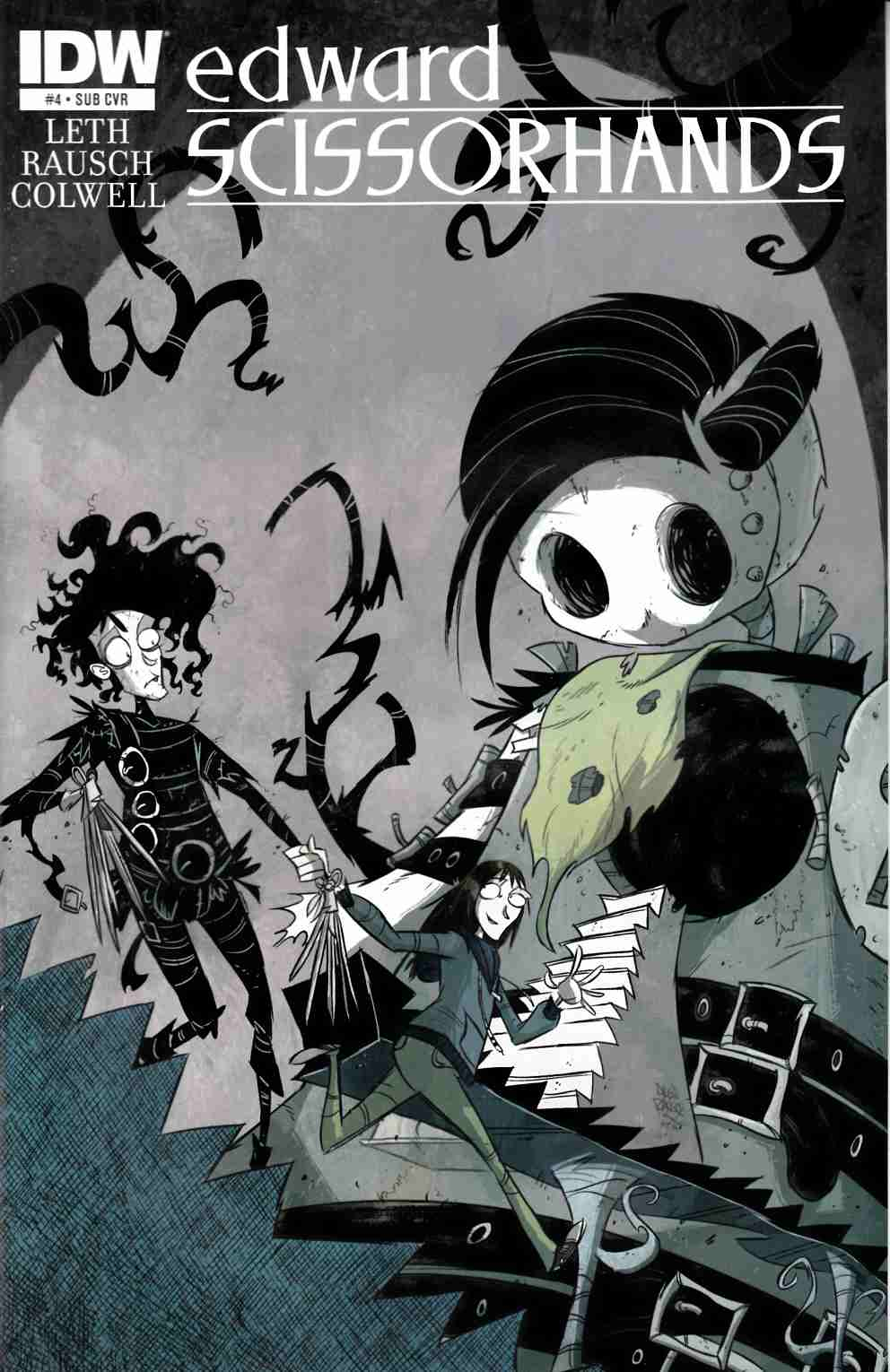 Edward Scissorhands #4 Subscription Cover [IDW Comic]
