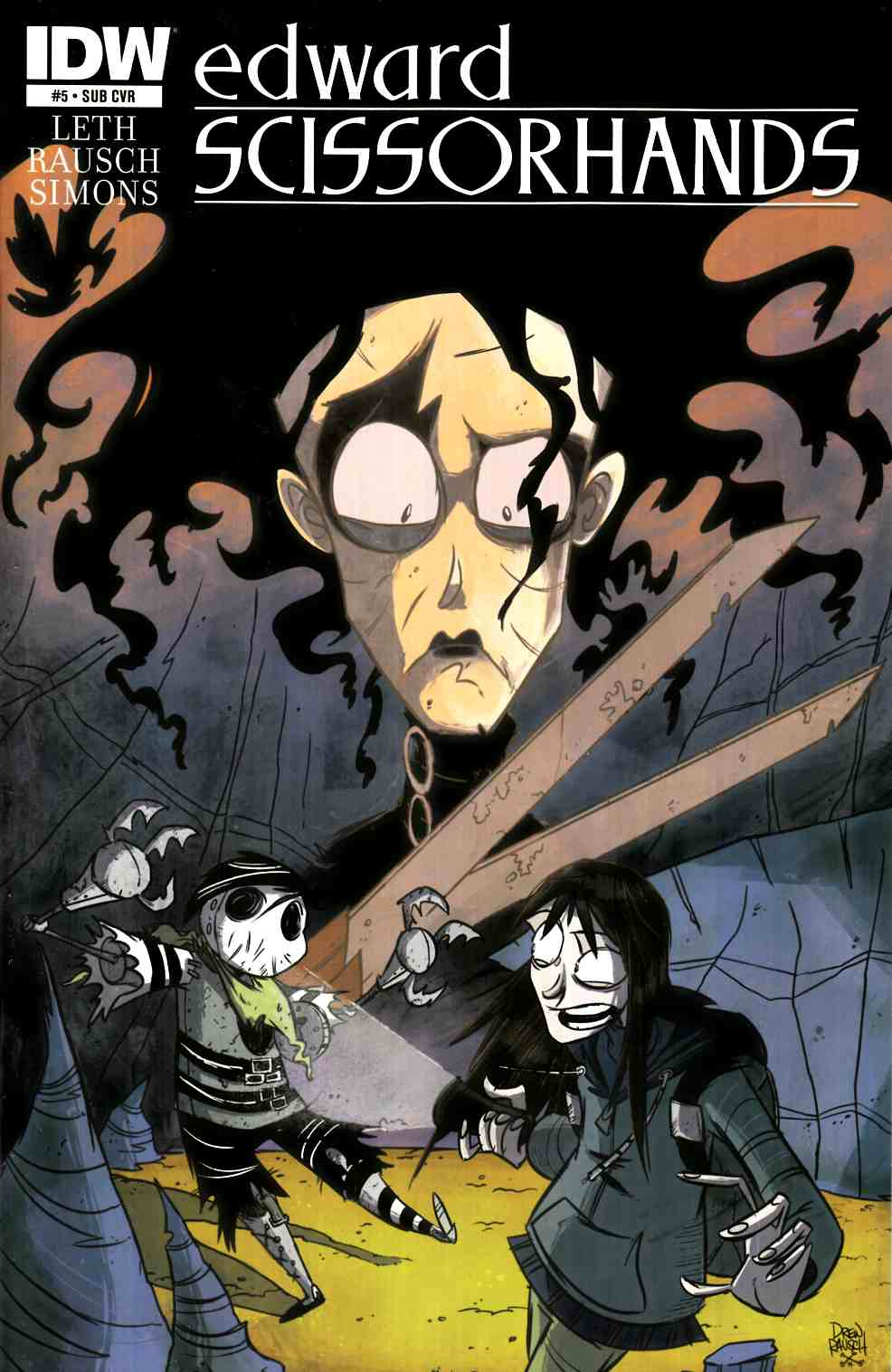 Edward Scissorhands #5 Subscription Cover [IDW Comic] THUMBNAIL