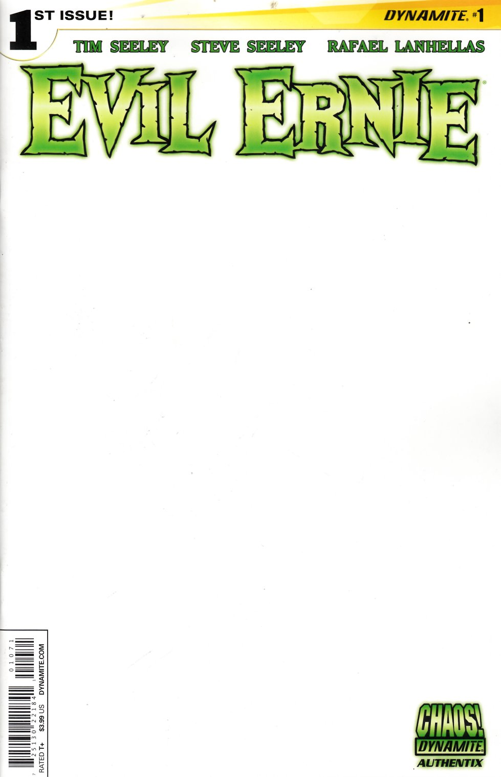 Evil Ernie #1 Blank Authentix Cover [Comic] THUMBNAIL