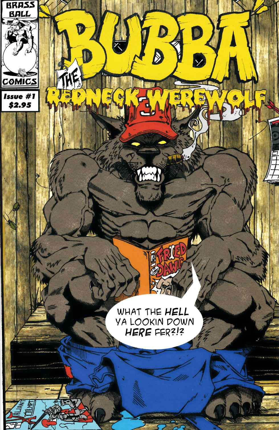 Bubba the Redneck Werewolf #1 [Brass Ball Comic] THUMBNAIL